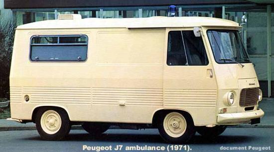 peugeot j7 1971 contact ambulances. Black Bedroom Furniture Sets. Home Design Ideas