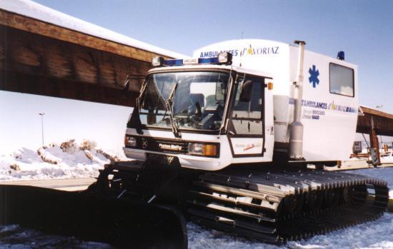 Ambulance Chasse Neige de la station de ski d'Avoriaz