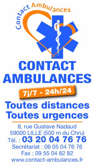 Contact Ambulances Lille logo carte